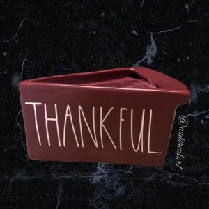 🆕 Rae Dunn THANKFUL 2 Wick Scented Pie Candle Blackcurrant